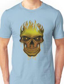 Flame Skull - Gold T-Shirt