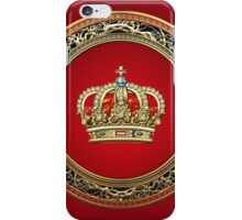 Prince-Princess King-Queen Crown [Gold] iPhone Case/Skin