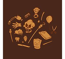 The Curse of Monkey Island Inventory (brown) Photographic Print