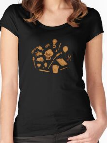 The Curse of Monkey Island Inventory (brown) Women's Fitted Scoop T-Shirt