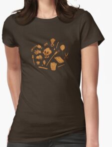 The Curse of Monkey Island Inventory (brown) Womens Fitted T-Shirt