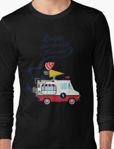 Nuance Retro: Ice Cream Truck Time Machine   Long Sleeve T-Shirt