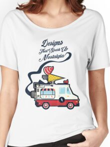 Nuance Retro: Ice Cream Truck Time Machine   Women's Relaxed Fit T-Shirt