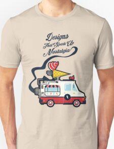 Nuance Retro: Ice Cream Truck Time Machine   T-Shirt