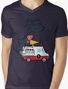 Nuance Retro: Ice Cream Truck Time Machine   Mens V-Neck T-Shirt