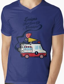 Nuance Retro: Ice Cream Truck Time Machine   Mens V-Neck T-Shirt