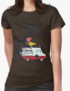 Nuance Retro: Ice Cream Truck Time Machine   Womens Fitted T-Shirt