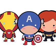 Cute Avengers by Adriana Cruz Berdecia