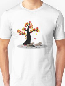 I could see the squirrels and they were happy Unisex T-Shirt