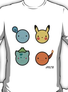 Cute Starter Pokemon T-Shirt