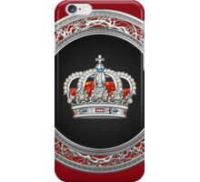 Prince-Princess King-Queen Crown [Silver]  iPhone Case/Skin