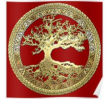 Celtic Tree of Life, Yggdrasil  [Gold] Poster