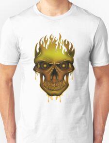 Flame Skull - Gold (2) T-Shirt
