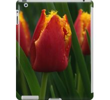 Cheerfully Wet Red and Yellow Tulips iPad Case/Skin