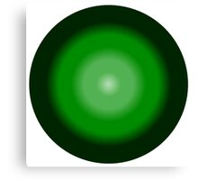 funky green bubble Canvas Print