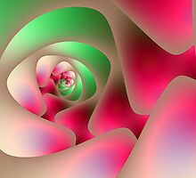 Mint and Raspberry Spiral by Objowl