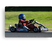 great light whilst Karting Canvas Print