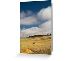 Wyoming Windmill and Dry Slough Greeting Card