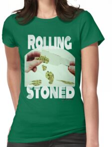 Stoned Rolling Womens Fitted T-Shirt