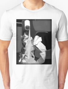 HUMEROUS MISCHIEVIOUS CAT-(FELINE) BATHROOM--JOURNAL-- PICTURE,PILLOWS AND OR TOTE BAGS ECT..DOUBLE THE PLEASURE DOUBLE THE FUN LOL!! T-Shirt