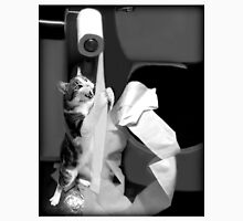 HUMEROUS MISCHIEVIOUS CAT-(FELINE) BATHROOM--JOURNAL-- PICTURE,PILLOWS AND OR TOTE BAGS ECT..DOUBLE THE PLEASURE DOUBLE THE FUN LOL!! Unisex T-Shirt
