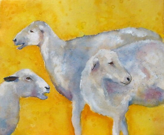 Saintly Three Sheep by Kay Hale