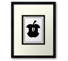 FORBIDDEN--TEMPTATION...ADAM & EVE--APPLE--SERPENT.-JOURNAL-.PICTURE-PILLOW-TOTE BAG-CELL PHONE COVERS ECT. Framed Print