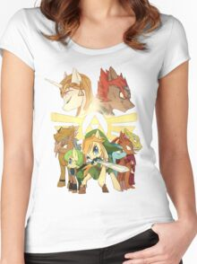 The legend of zelda (mlp) Women's Fitted Scoop T-Shirt