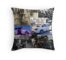 Wheels. Bikes. Mountains. France. Naked rides. Causes.  Throw Pillow