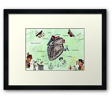 Parts of the heart Framed Print