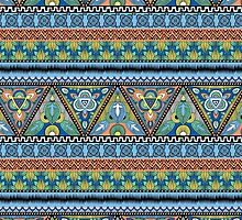 Tribal Aztec pattern by Alissa Stytsenko