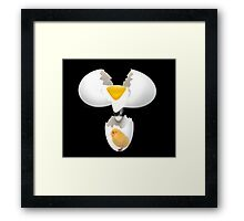 GIVE A CHICK A BREAK..EGG PICTURE,POSTERS,PRINTS ECT.. Framed Print