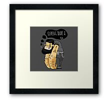 Classic dude Framed Print