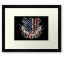 American Zombie Hunter shield Framed Print