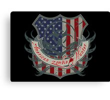 American Zombie Hunter shield Canvas Print