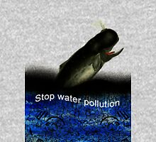 Stop water pollution Mens V-Neck T-Shirt