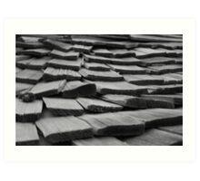 Weathered Wooden Shingles Art Print