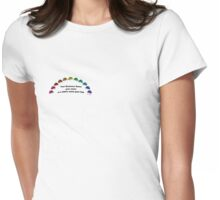 Rainbow Ladybugs Womens Fitted T-Shirt