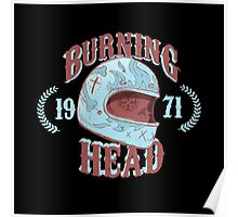 Burning Head Poster