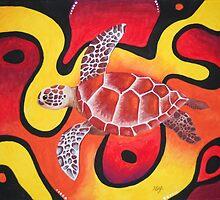 Red Turtle Teddie by Malleeg