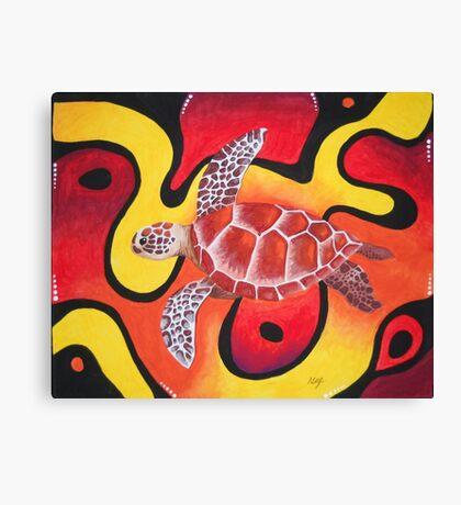 Red Turtle Teddie Canvas Print