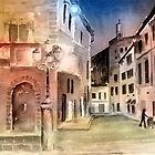 Street Scene In Italy by arline wagner