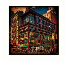 Intersection of Canal & Center Streets, NYC, USA Art Print