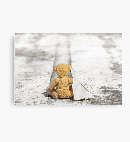 Travel Bug Bear / Bon Voyage Canvas Print