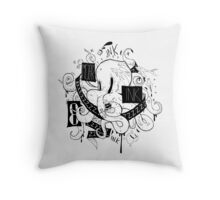 Octopus Ink Throw Pillow