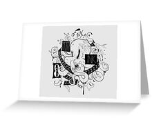 Octopus Ink Greeting Card