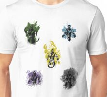 Many faces of Ninjas. Unisex T-Shirt