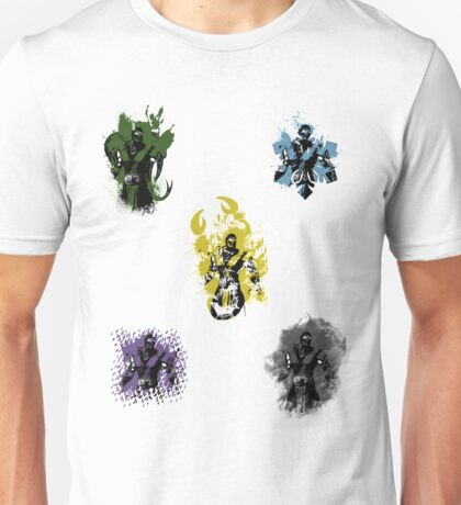 Many faces of Ninjas. Unisex T-Shirt