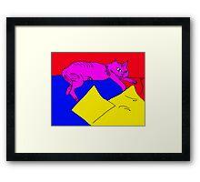 zoe the cat Framed Print