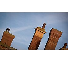 Chimneys of Kettering Station in colour from Kettrin'Kollection Photographic Print